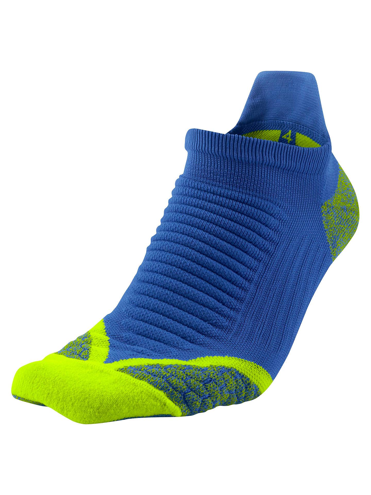 sports shoes 3824e d8459 Buy Nike Women s Elite Run Cushioned No- Show Tab Running Socks, Hyper  Blue, ...