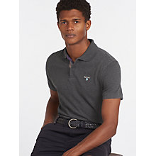 Buy Barbour Tartan Pique Polo Shirt, Slate Marl Online at johnlewis.com