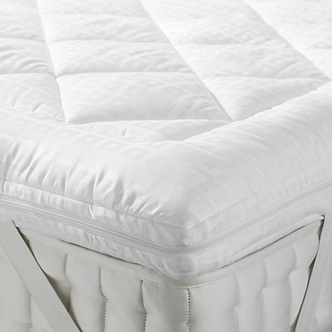 John Lewis Synthetic Soft Touch Washable Mattress Topper Online At Johnlewis