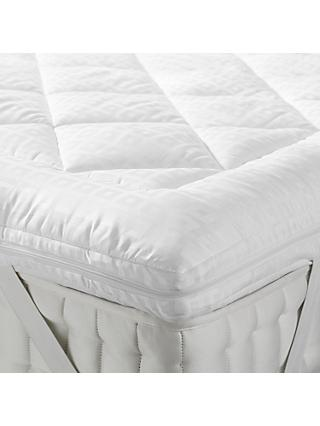 John Lewis & Partners Synthetic Soft Touch Washable Dual Layer Mattress Topper