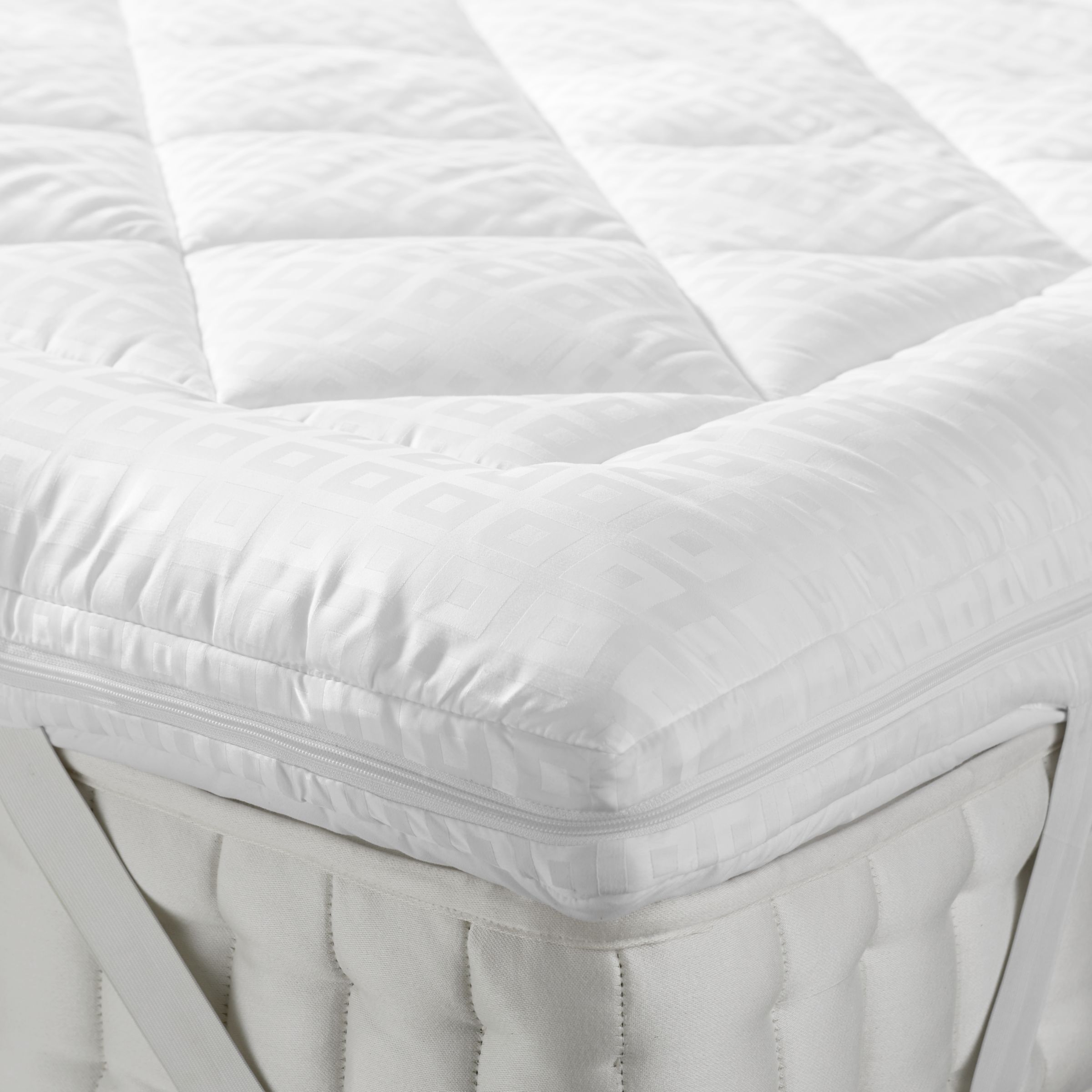John Lewis & Partners Synthetic Soft Touch Washable Dual Layer 6cm Deep Mattress Topper