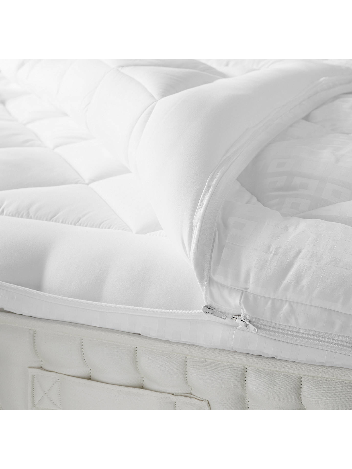 Buy John Lewis & Partners Synthetic Soft Touch Washable Dual Layer 6cm Deep Mattress Topper, Double Online at johnlewis.com