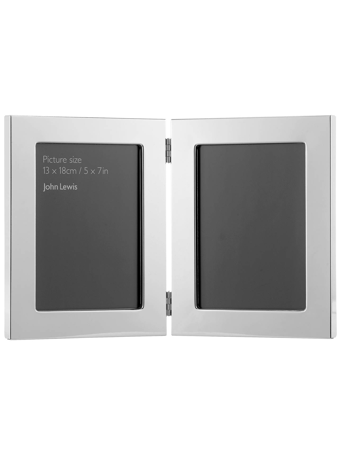 John Lewis Partners Double Photo Frame Silver Plated