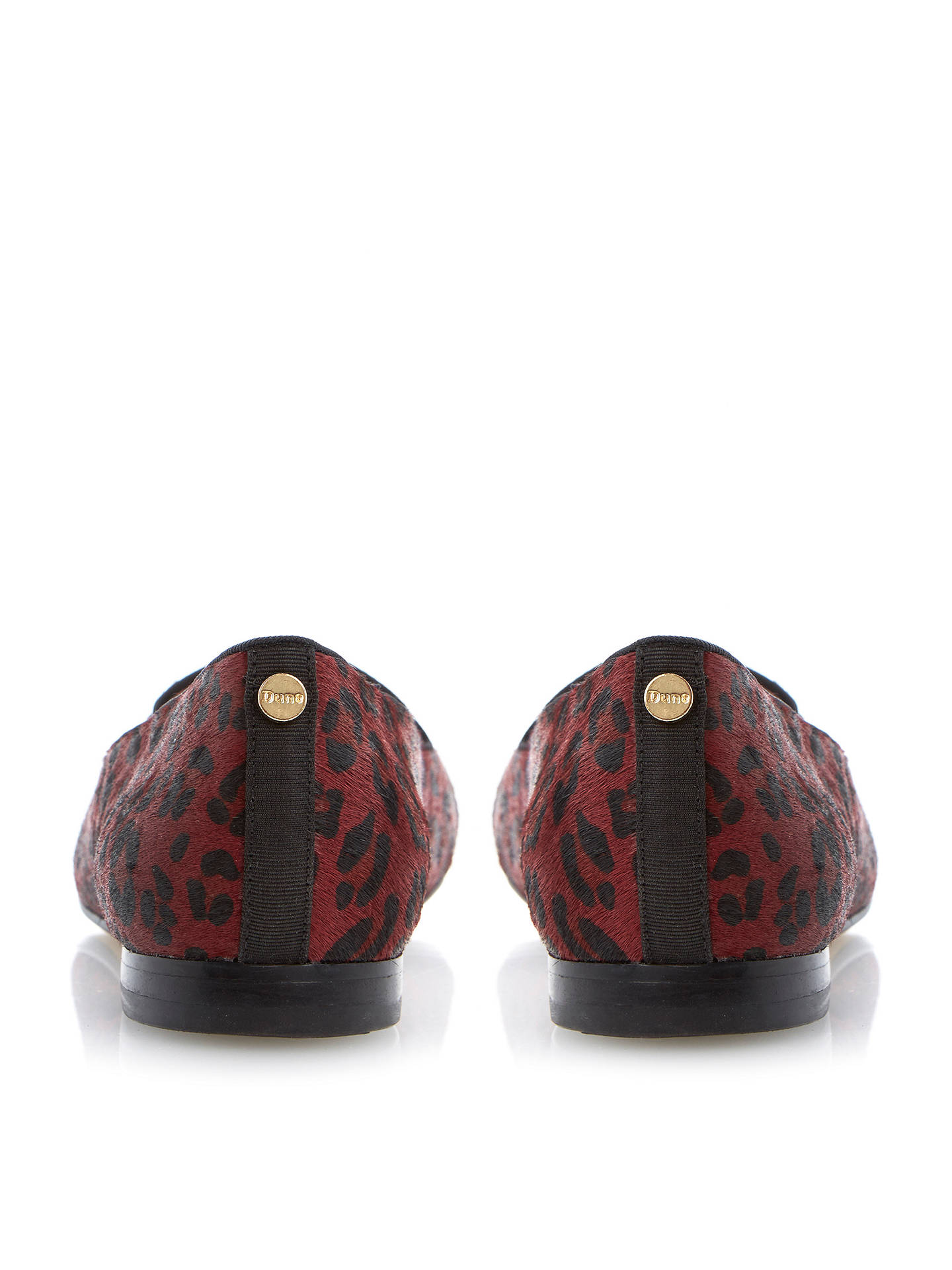 Buy Dune Limbo Pony Print Loafers, Red, 3 Online at johnlewis.com