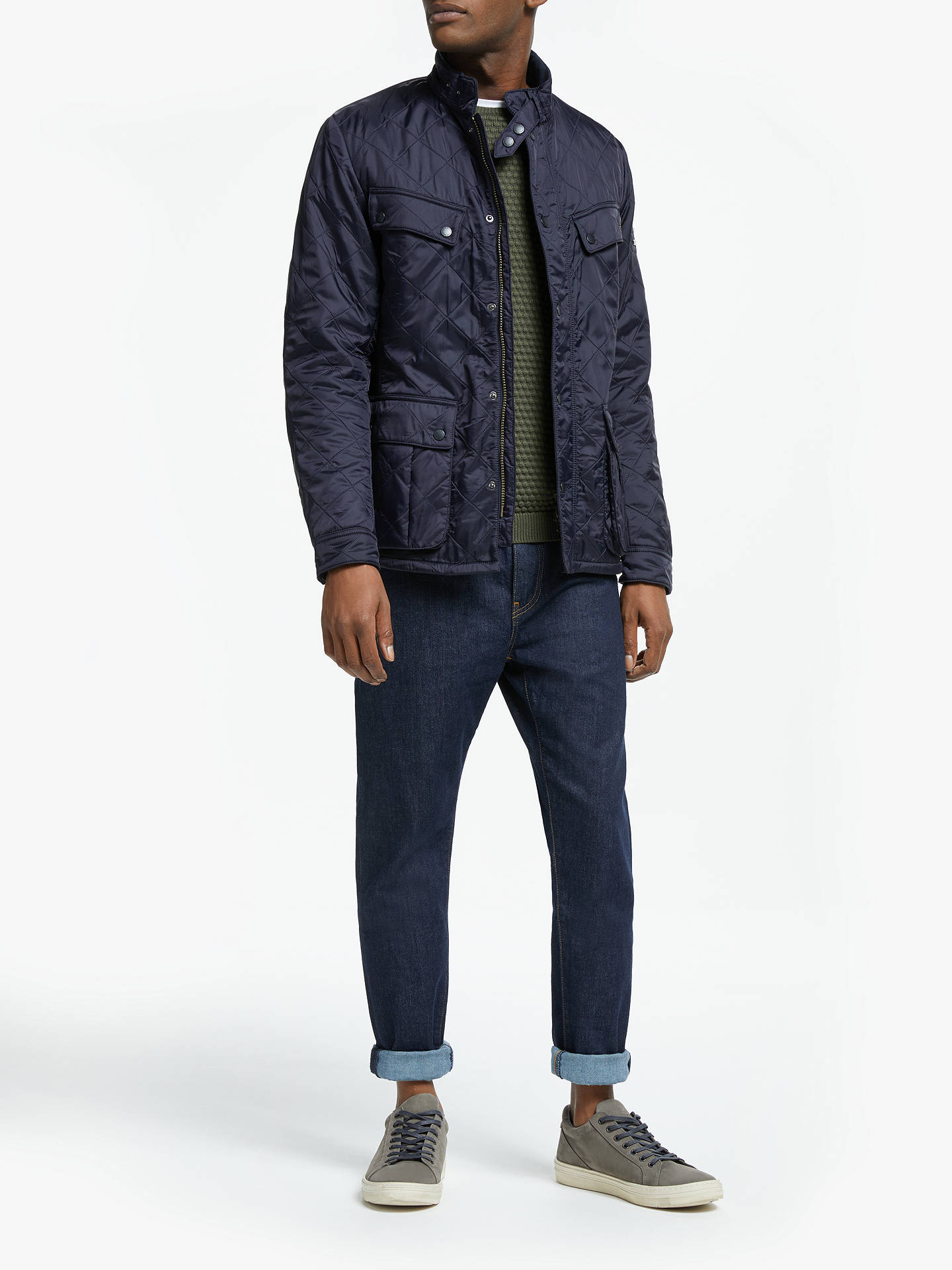 BuyBarbour International Ariel Polarquilt Quilted Jacket, Navy, M Online at johnlewis.com