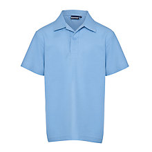Buy North London Collegiate Short Sleeved Polo Shirt, Sky Blue Online at johnlewis.com