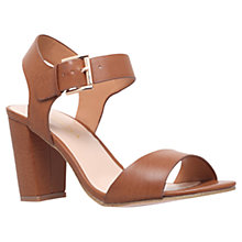 Buy Carvela Sadie Block Heel Sandals, Tan Online at johnlewis.com
