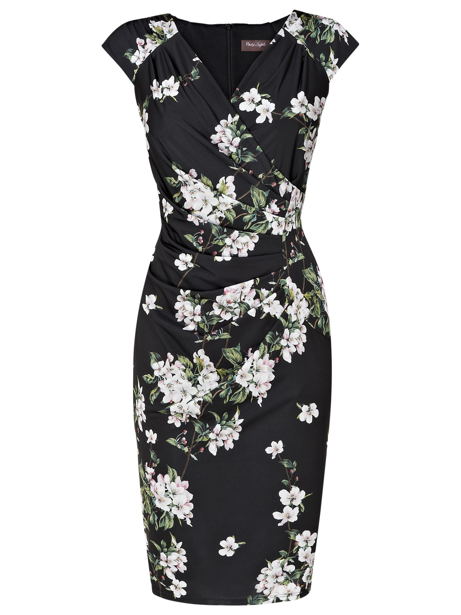 Phase Eight Camille Floral Dress, Black