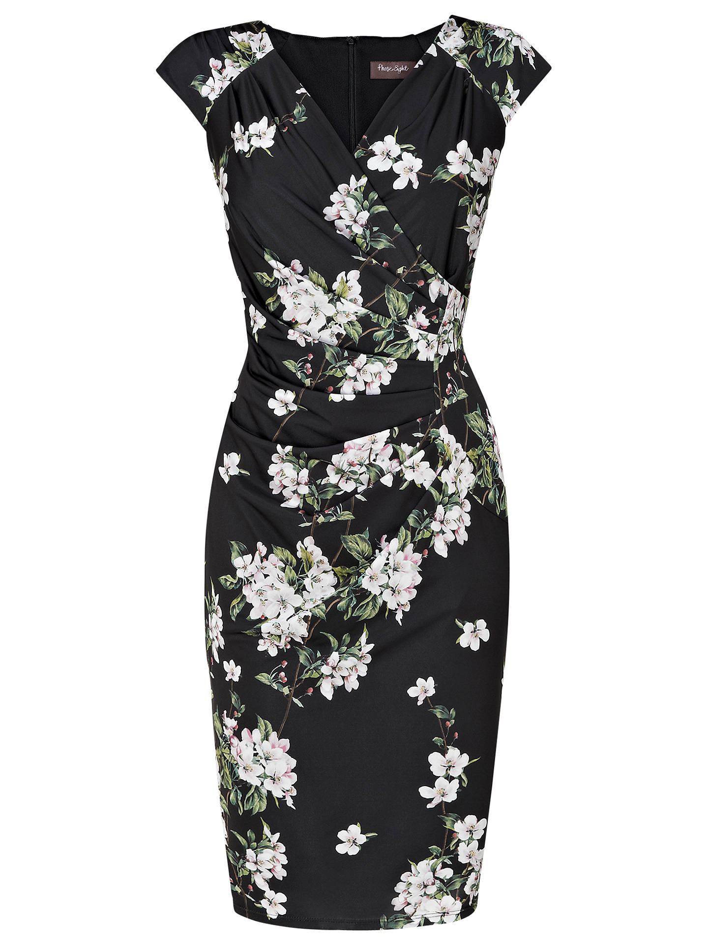 Phase Eight Camille Floral Dress, Black/Multi