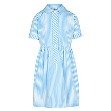 Buy Norman Court School Girls' Stripe Summer Dress, Blue Online at johnlewis.com