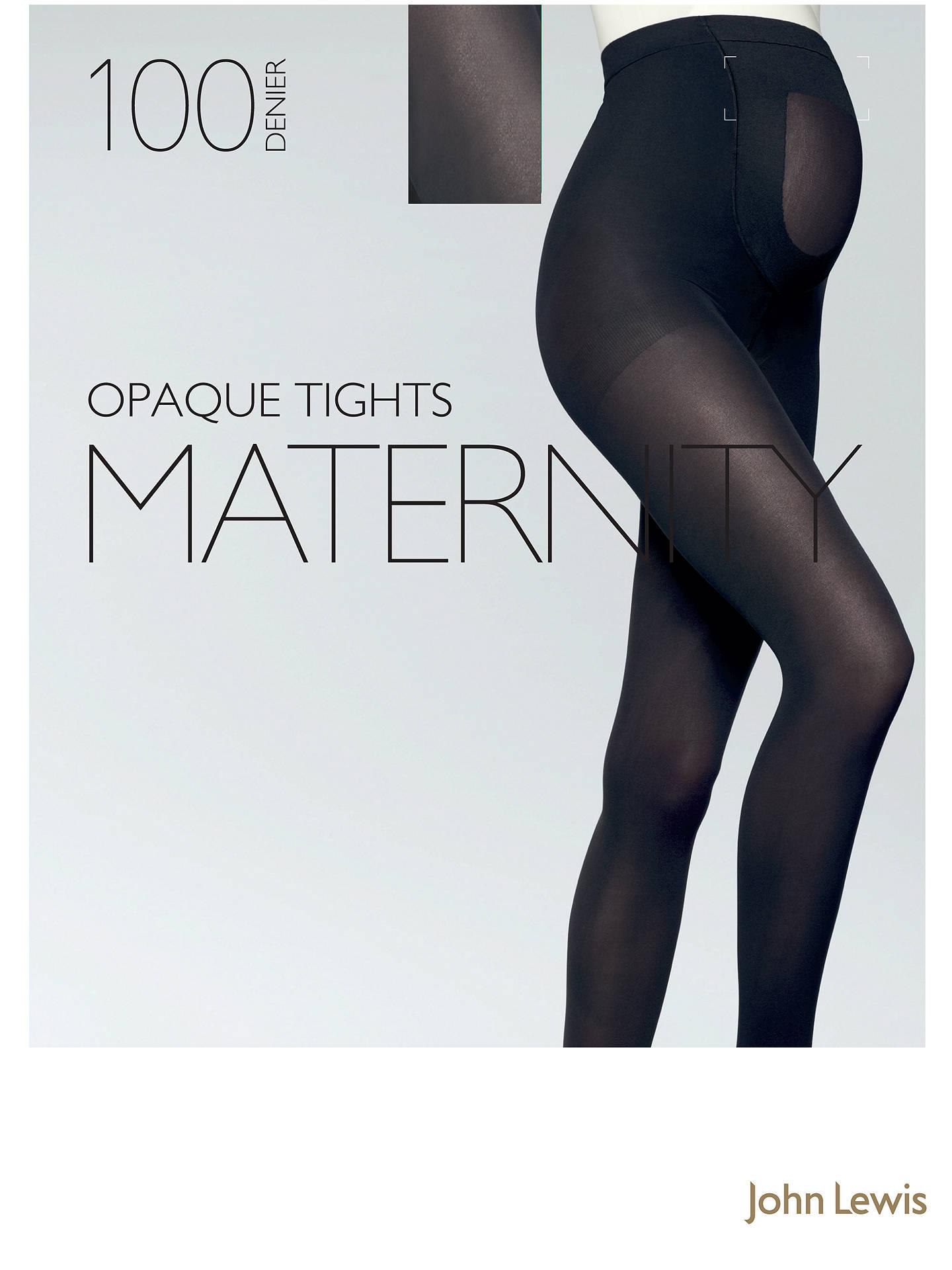 ec66f3d240d38 Buy John Lewis 100 Denier Opaque Maternity Tights, Black, M Online at  johnlewis.
