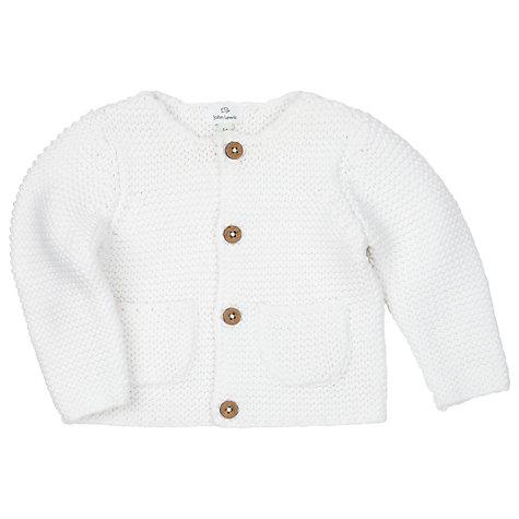 Buy John Lewis Baby's Chunky Knit Cardigan, Cream | John Lewis