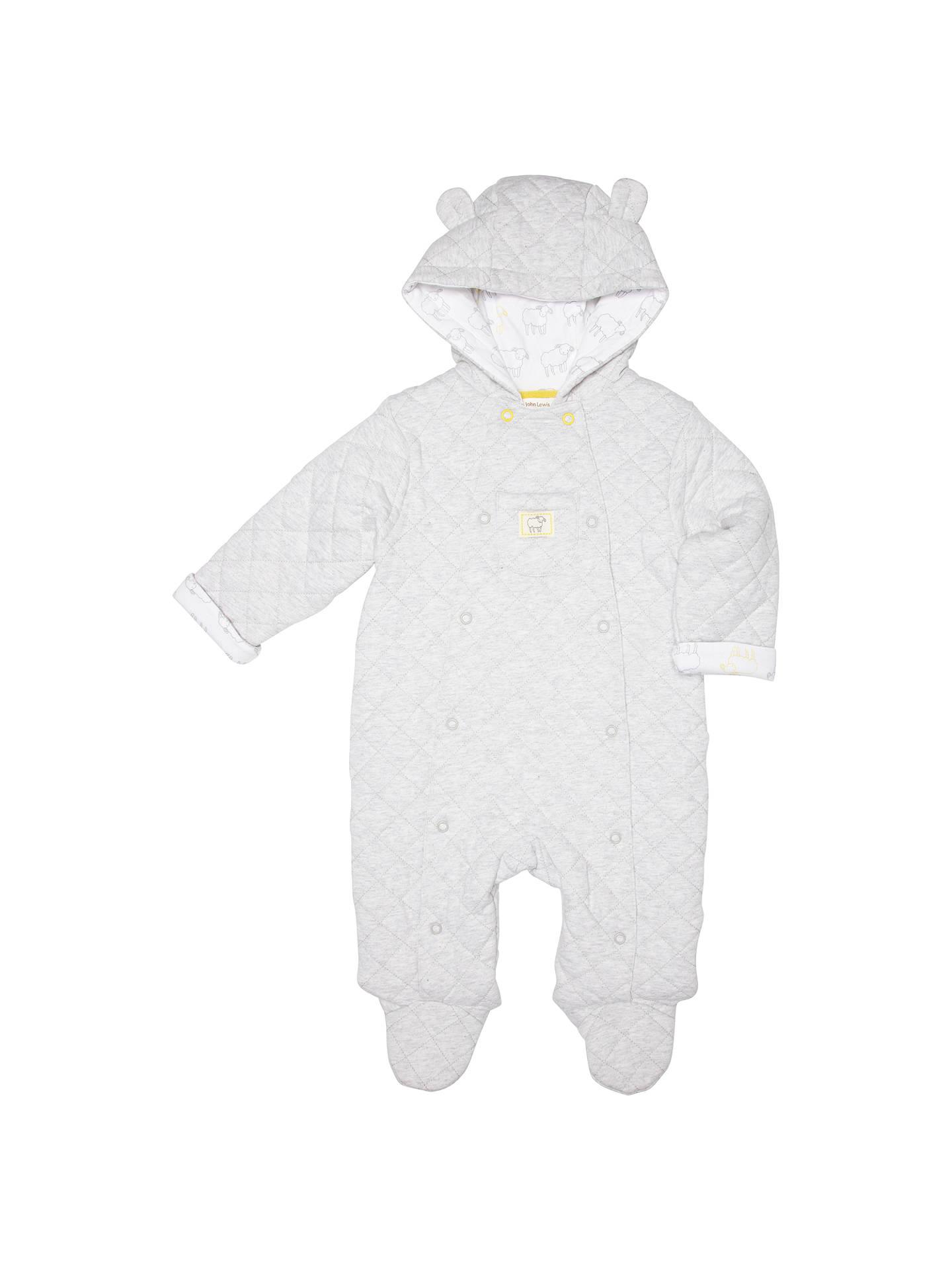 dcd5e7350e7c John Lewis Quilted Marl Knit Babysuit