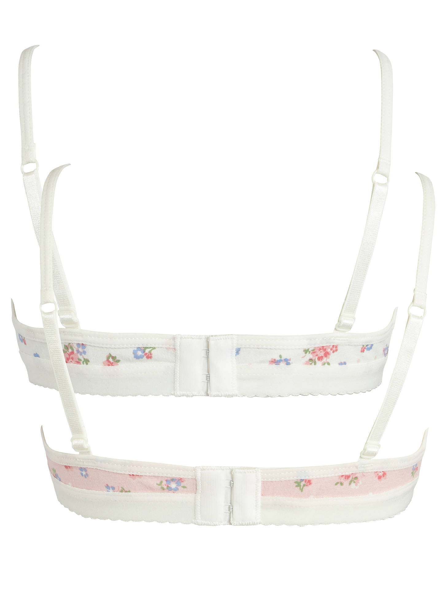 Buy John Lewis Girl Vintage Floral Bra, Pack of 2, Multi, 28AA Online at johnlewis.com