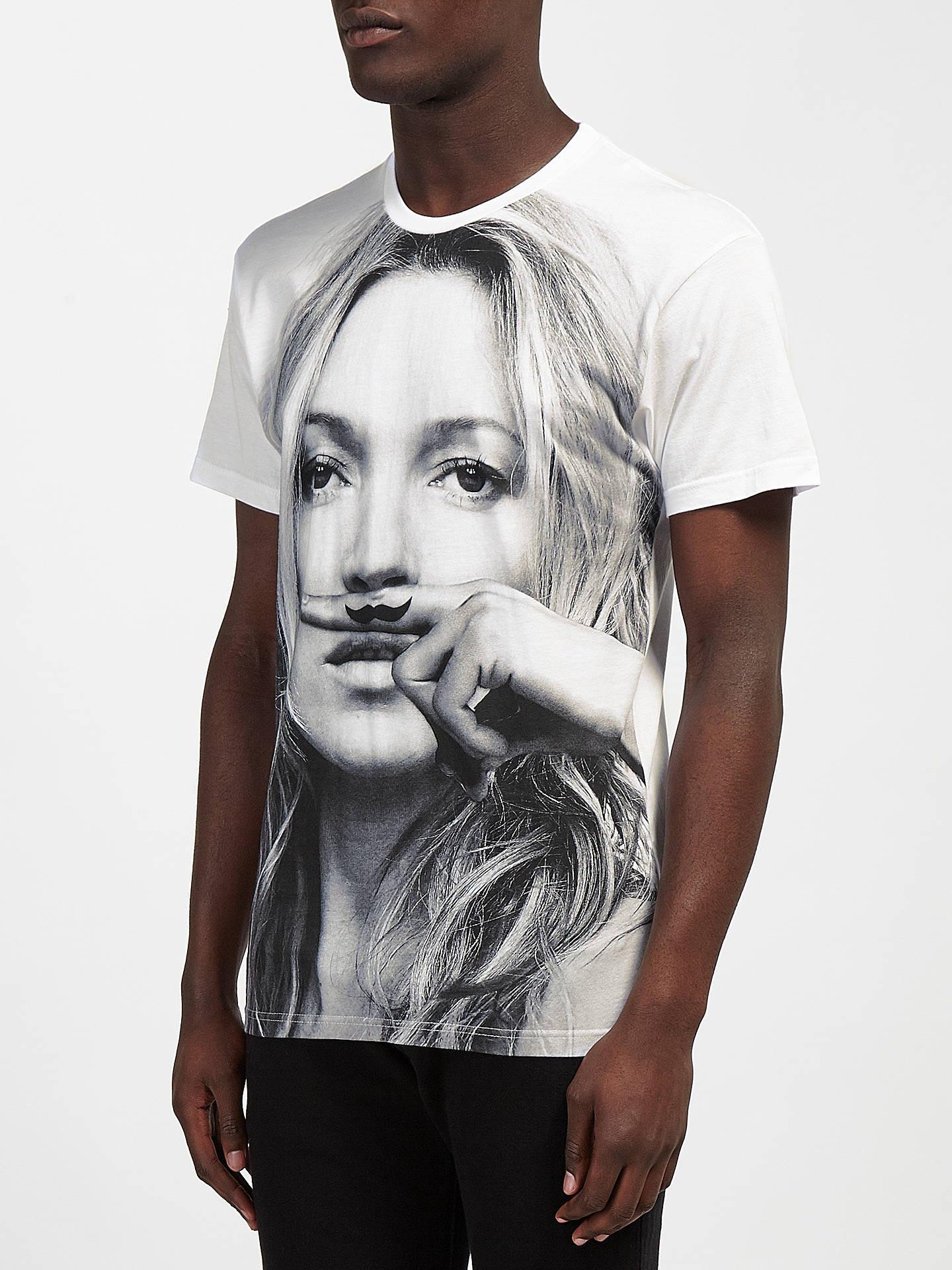 ca2513571 ... Buy Eleven Paris Kate Moss Moustache T-Shirt, White, S Online at  johnlewis ...