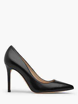 L.K.Bennett Fern Pointed Toe Leather Court Shoes