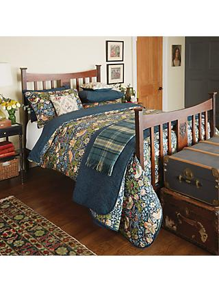 Morris & Co. Strawberry Thief Cotton Bedding, Blue