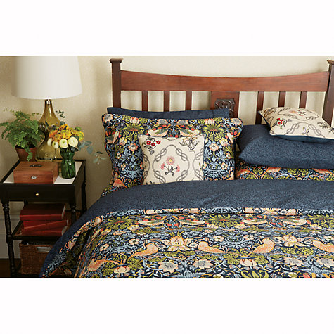 buy morris co strawberry thief cotton bedding john lewis. Black Bedroom Furniture Sets. Home Design Ideas