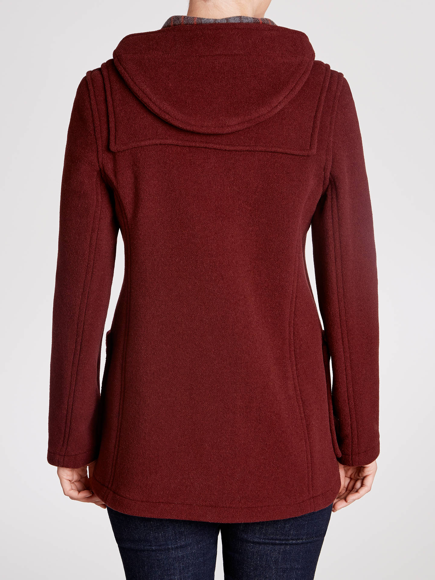 Buy Gloverall Duffle Coat, Burgundy, 12 Online at johnlewis.com