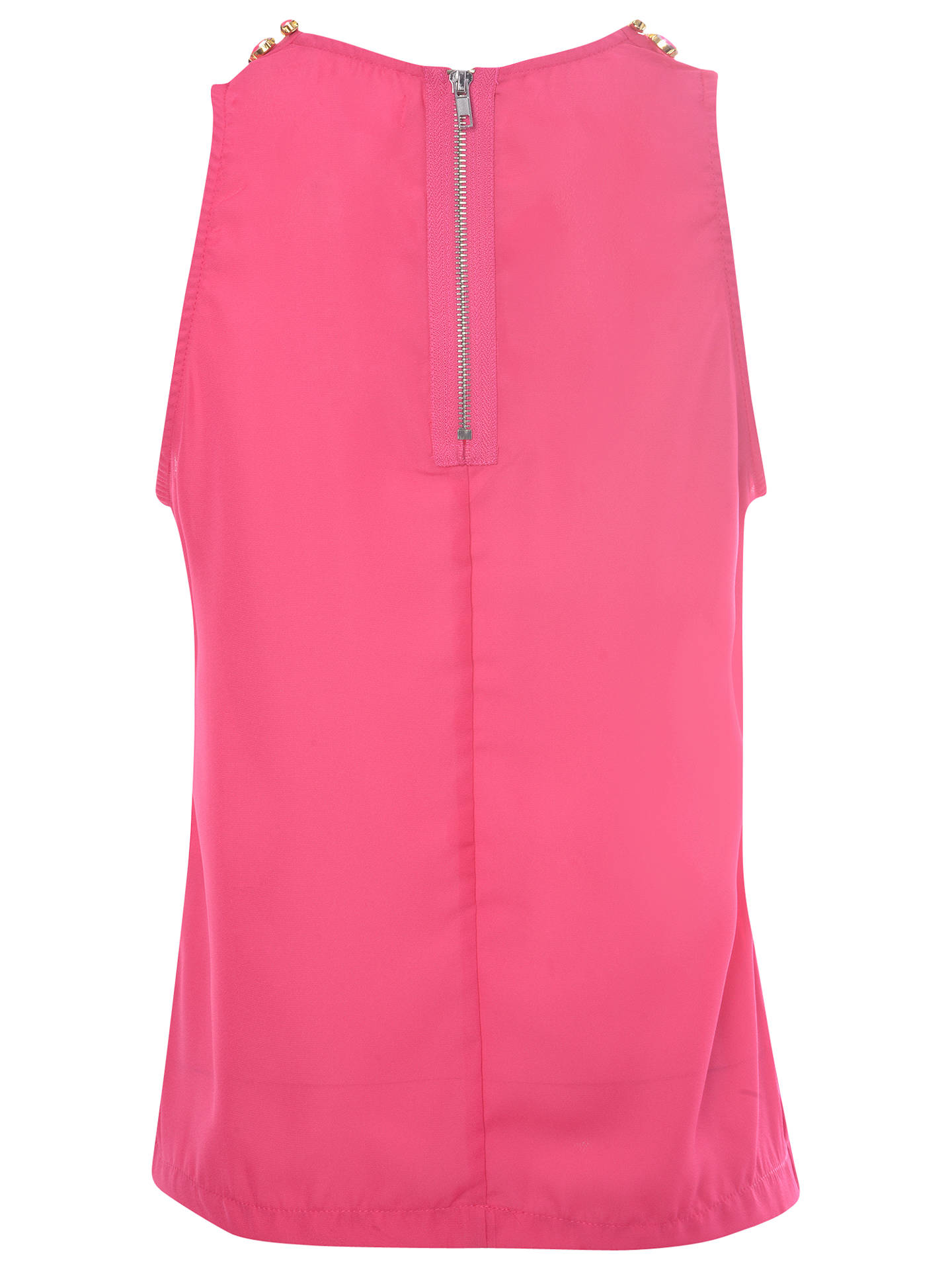 Buy True Decadence Jewel Collar Blouse, Hot Pink, 8 Online at johnlewis.com