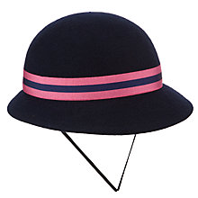 Buy St Martin's School Winter Hat, Navy/Pink Online at johnlewis.com