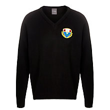 Buy Harlaw Academy School Jumper, Black Online at johnlewis.com