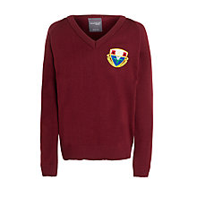 Buy Harlaw Academy V-Neck Jumper, Maroon Online at johnlewis.com