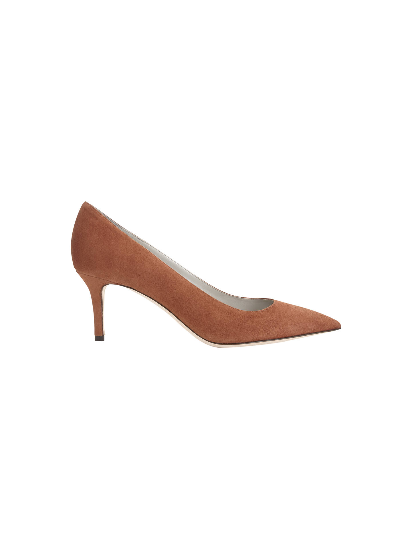 cb150ed9c3 Buy Jigsaw Milly Suede Court Stiletto Heels, Ginger, 3 Online at johnlewis.com  ...