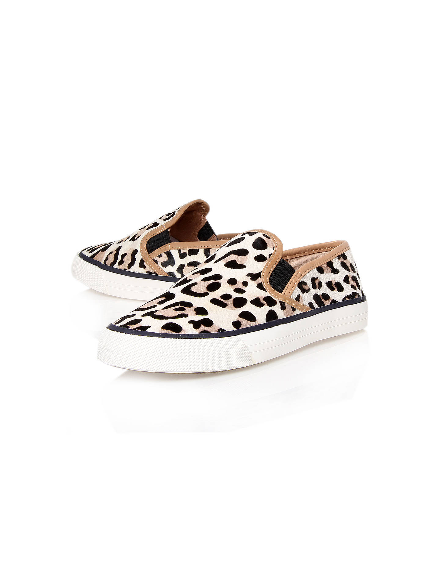 ca6c378a09bd Buy Carvela Laurel Flat Slip On Trainers, Leopard Pony, 3 Online at  johnlewis.