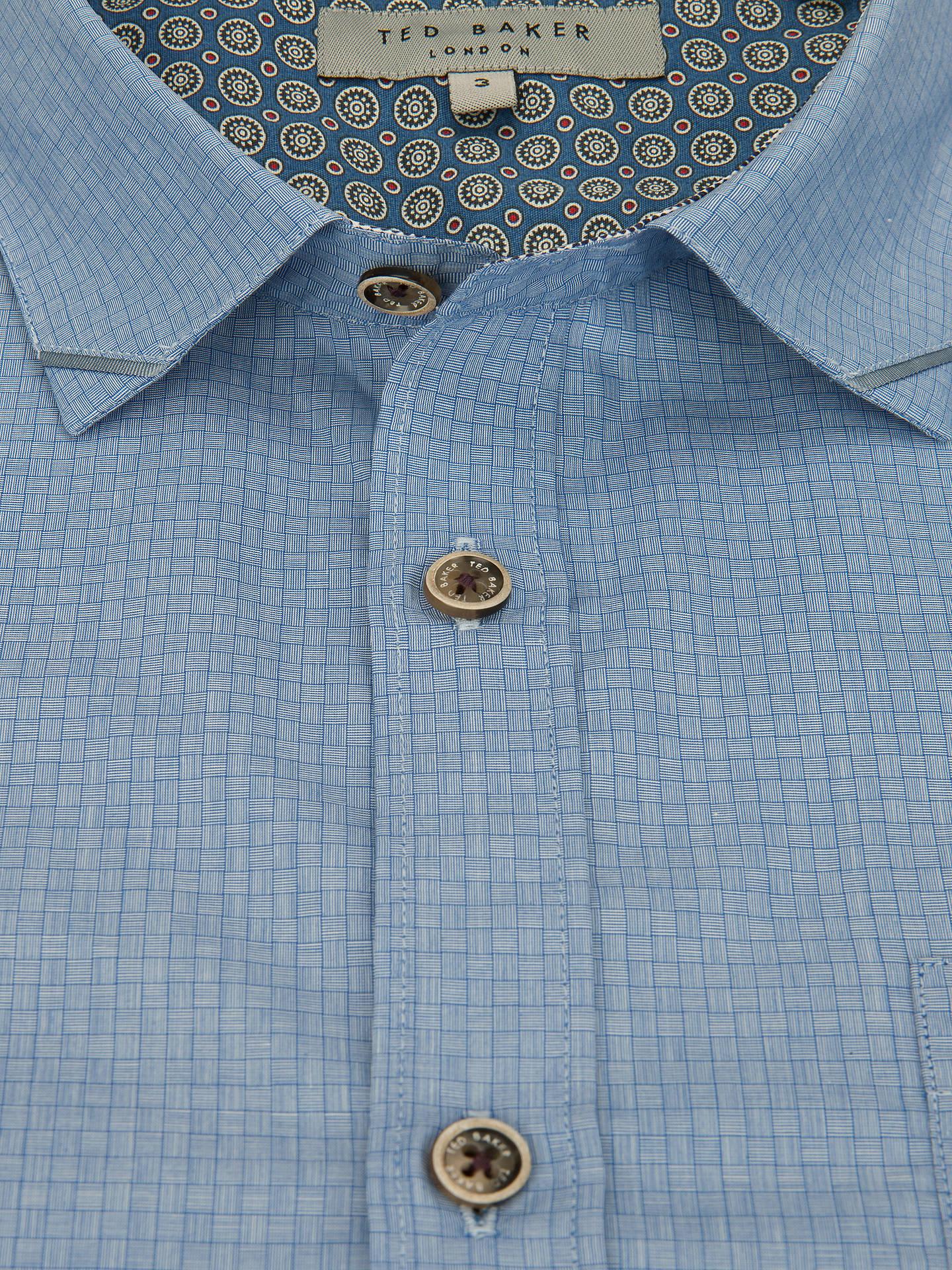 7ef66ebc95 Ted Baker Wellfly Pocket Detail Square Weave Shirt at John Lewis ...