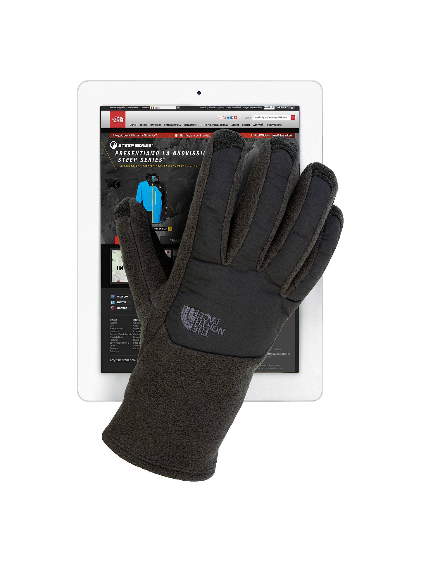 33c7350ef The North Face Men's Denali Etip Gloves, Black at John Lewis & Partners