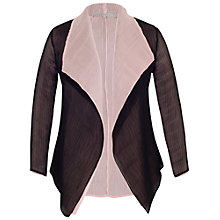 Buy Chesca Reverse Pleated Shrug, Powder Pink/Black Online at johnlewis.com