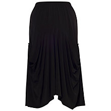 Buy Chesca Draped Jersey Skirt, Black Online at johnlewis.com