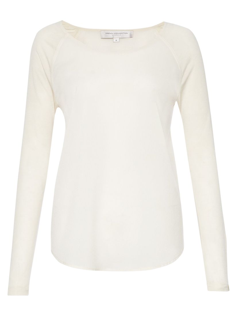French Connection French Connection Polly Plains Top, Classic Cream