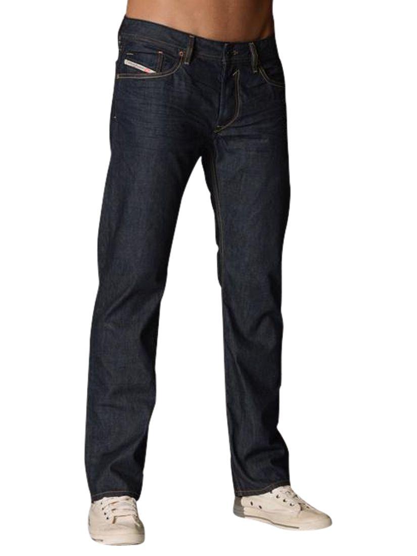 6a37caa3 Diesel Waykee Straight Jeans, Indigo 0088Z at John Lewis & Partners