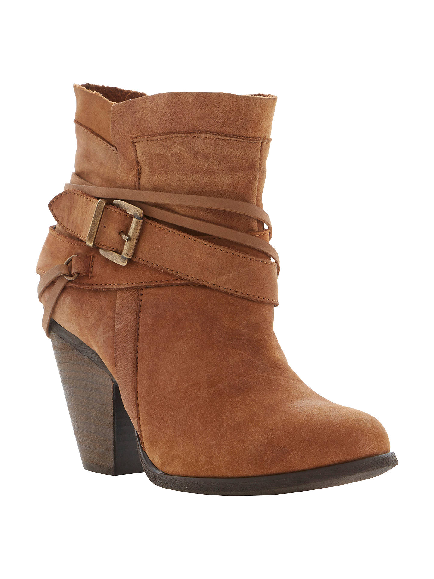 d7d826949fc Steve Madden Raffa Leather Buckle Trim Western Style Ankle Boots at ...