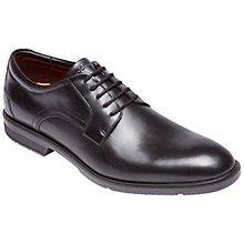 Buy Rockport City Smart Leather Derby Shoes, Black Online at johnlewis.com