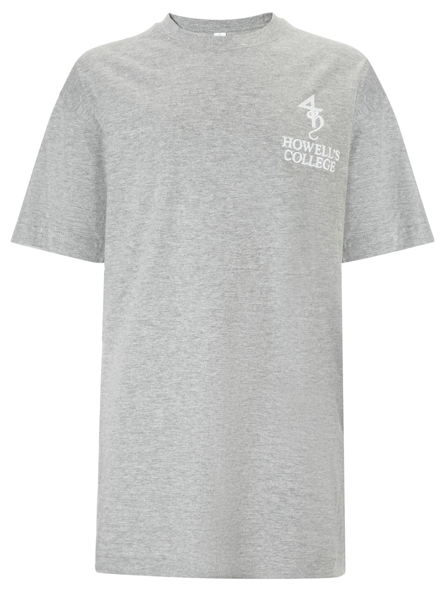 Buy Howell's College Unisex T-Shirt, Grey, S Online at johnlewis.com