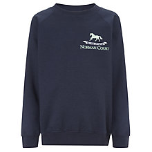 Buy Norman Court School Sweatshirt, Navy Online at johnlewis.com