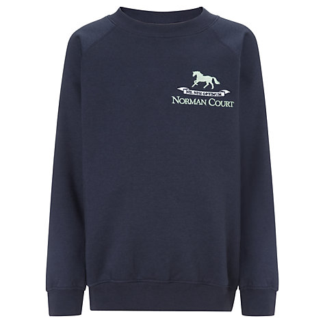 Buy Norman Court School Sweatshirt, Navy | John Lewis