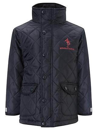 Howell's School Girls' Quilted Jacket, Navy