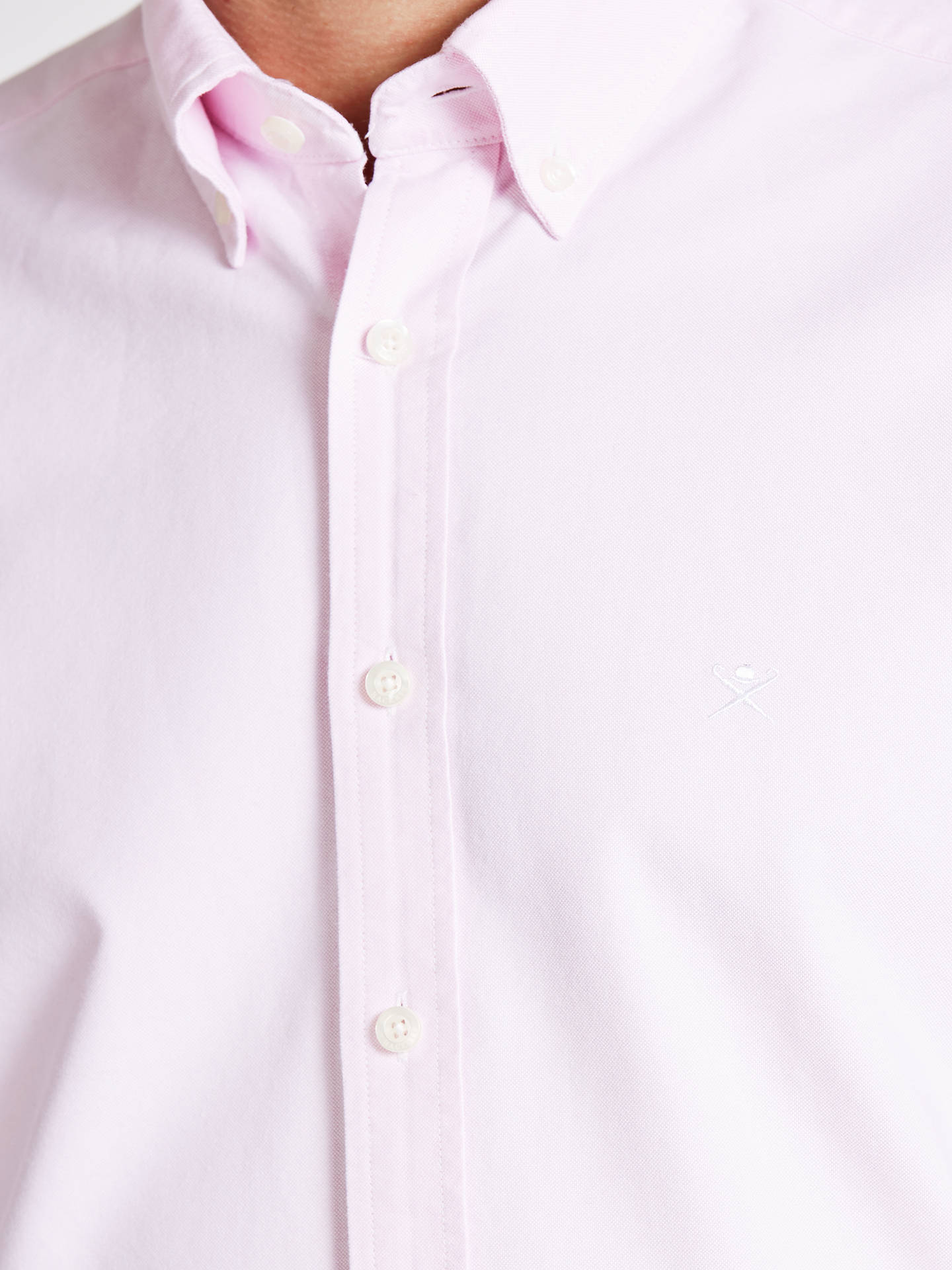 Buy Hackett London Washed Oxford Shirt, Pink, M Online at johnlewis.com