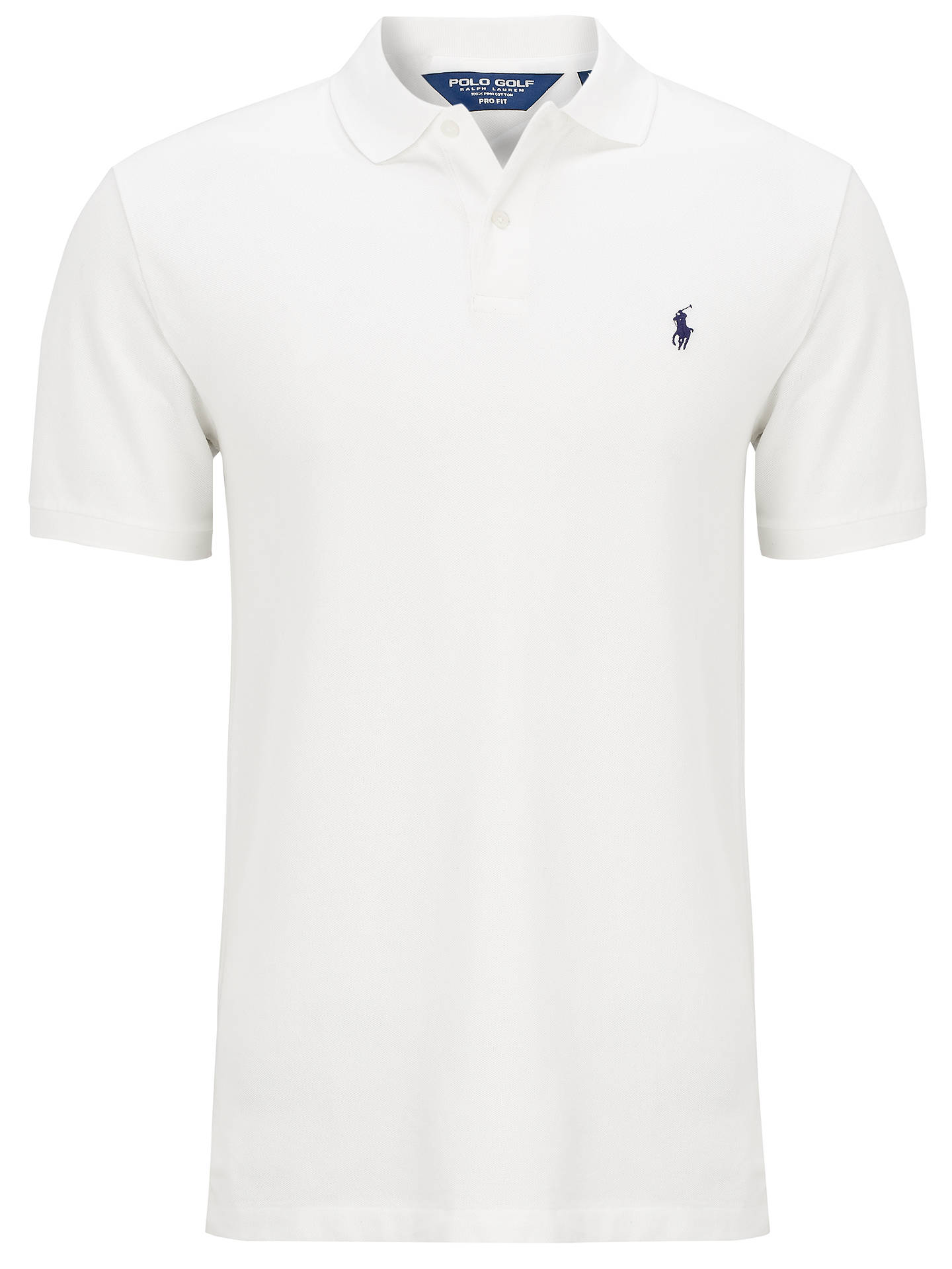 b989b06f0 Buy Polo Golf by Ralph Lauren Pro-Fit Polo Shirt, White, M Online ...