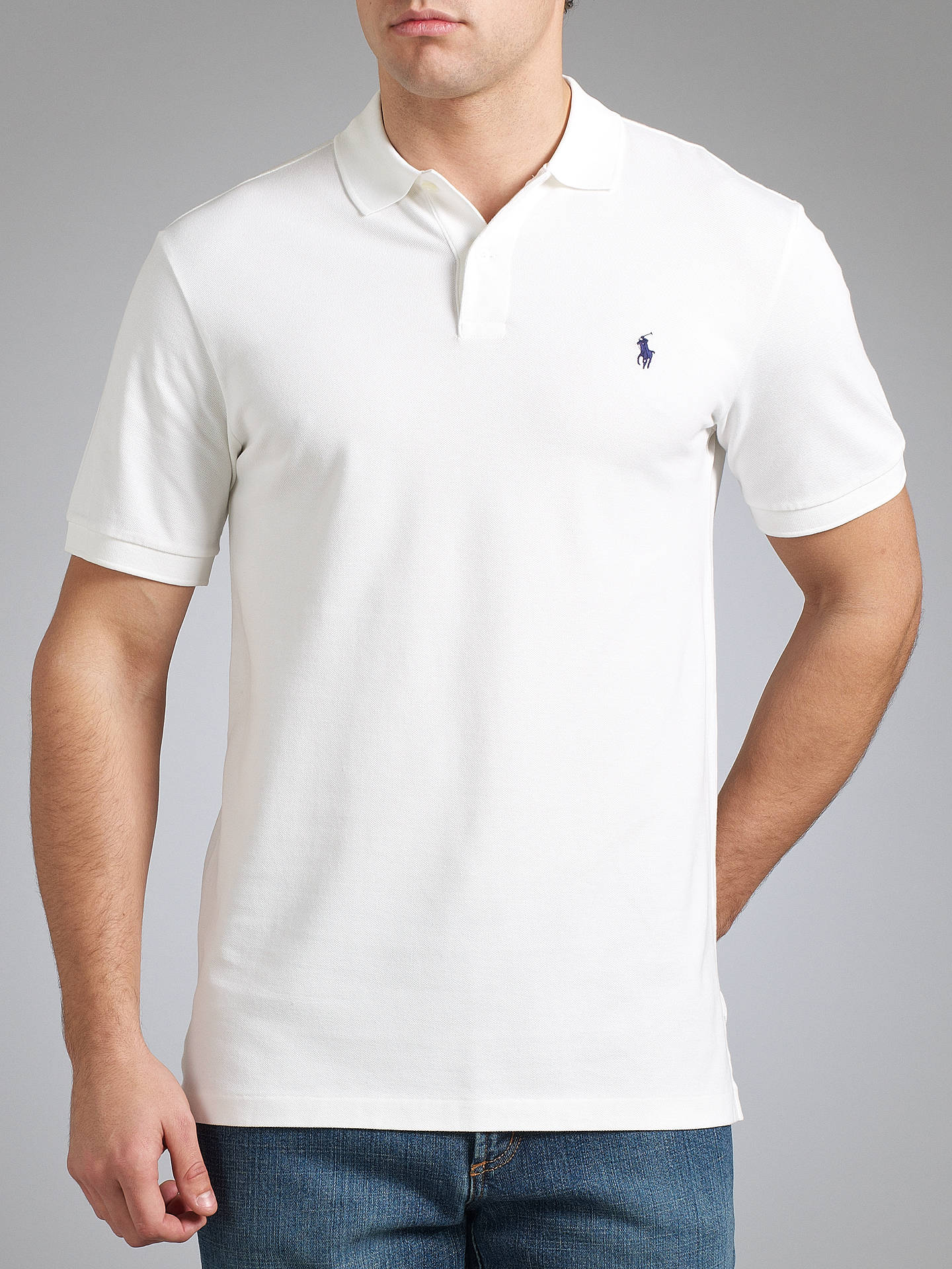 f17d148f1 ... Buy Polo Golf by Ralph Lauren Pro-Fit Polo Shirt, White, M Online ...