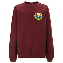 Buy Harlaw Academy Crew Neck School Sweatshirt, Maroon Online at johnlewis.com