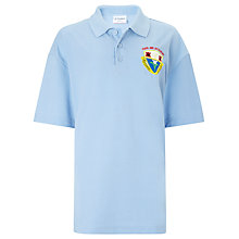 Buy Harlaw Academy Polo Shirt, Sky Blue Online at johnlewis.com