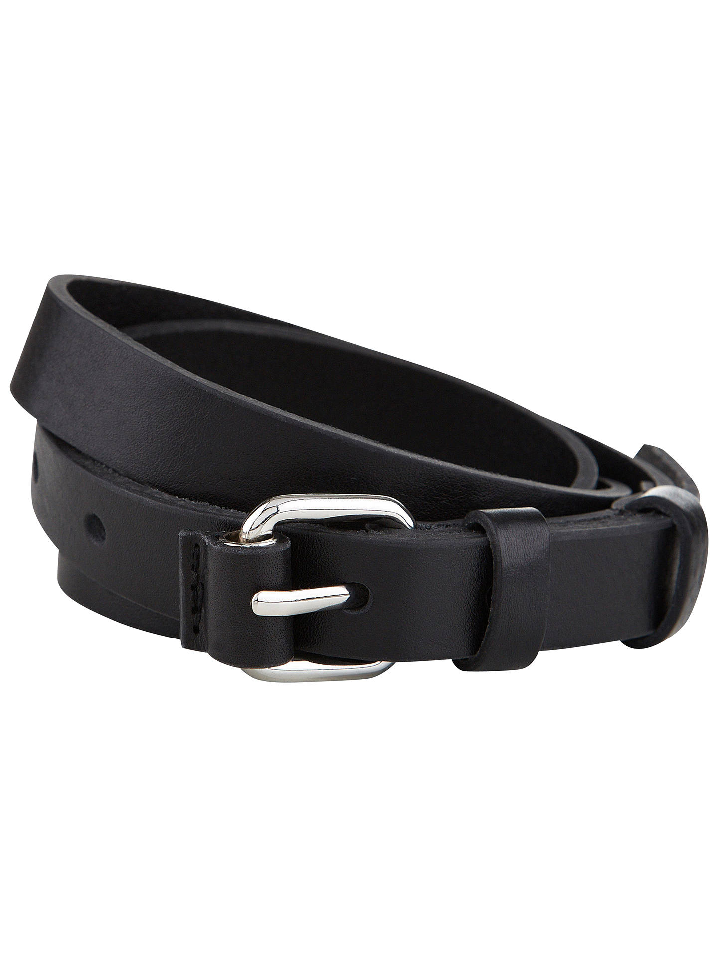 Buy Hobbs James Belt, Black, XS Online at johnlewis.com
