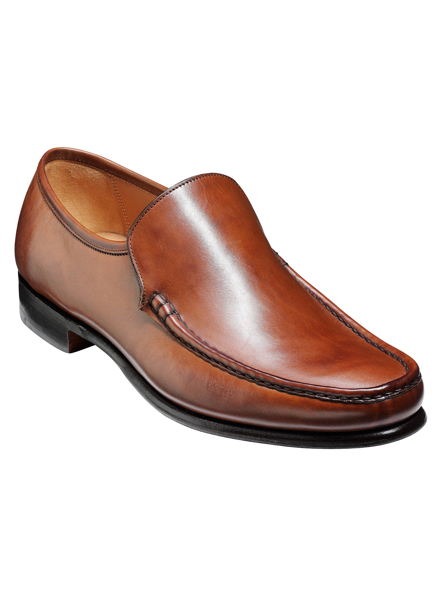 185d4698b2ad6d Leather Shoes Brown at amp  Lewis Partners Torquay Moccasin Barker John  A1fvqv