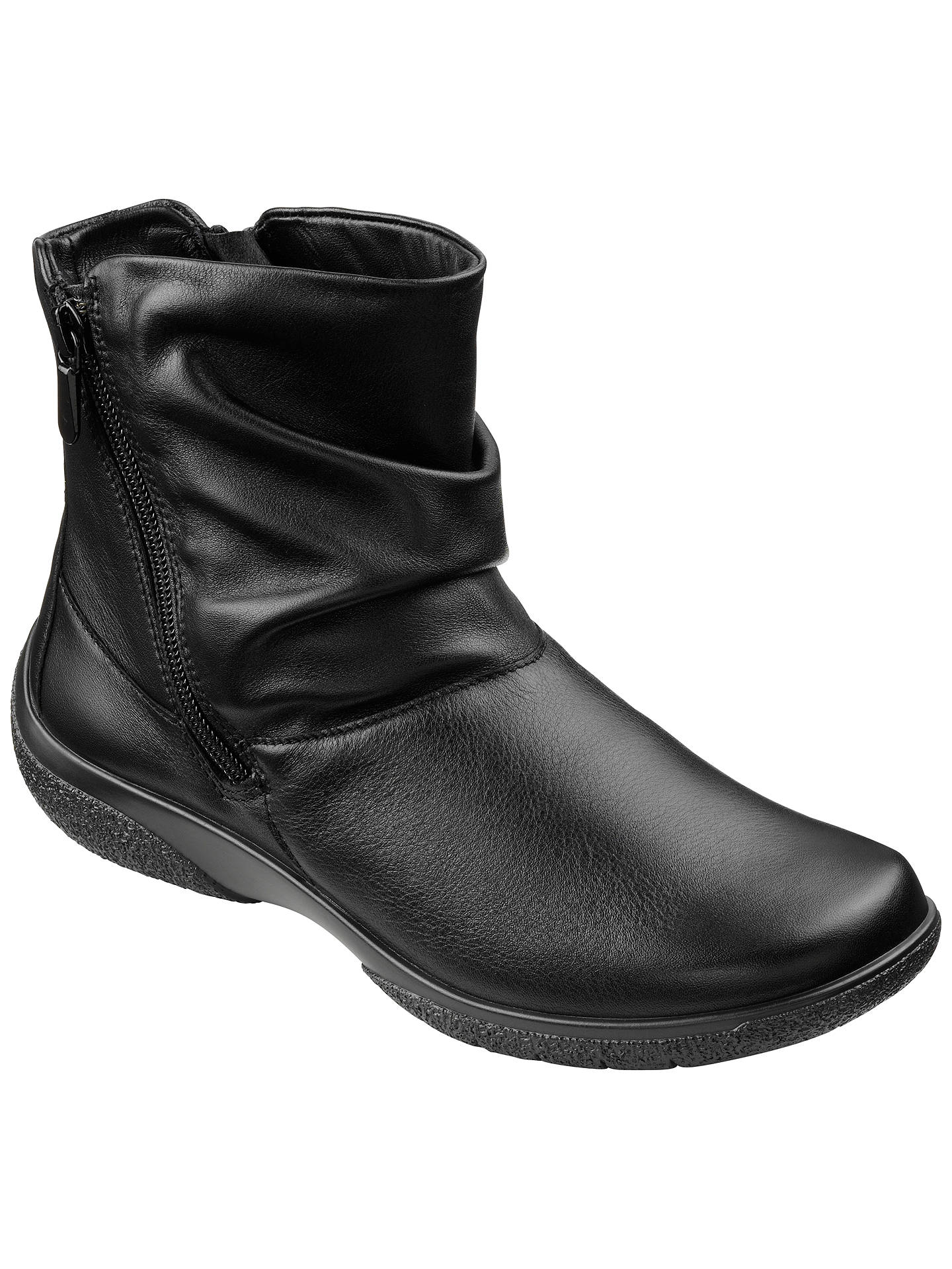 04743f5e452c5 Buy Hotter Made in England Whisper Leather Ankle Boots, Black, 3 Online at  johnlewis
