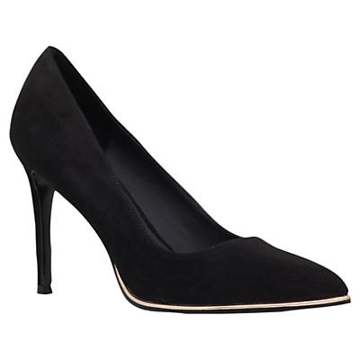 KG by Kurt Geiger Beauty Toe Point Stiletto Court Shoes, Black Velvet